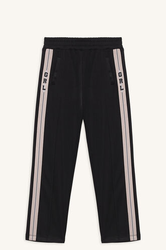 GIRL TRACK PANT in colour JET BLACK