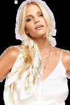 CHAIN HAIR SCARF TIE in colour WHITE ALYSSUM