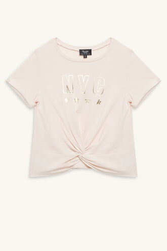 NYC TWIST TEE in colour PINK CHAMPAGNE