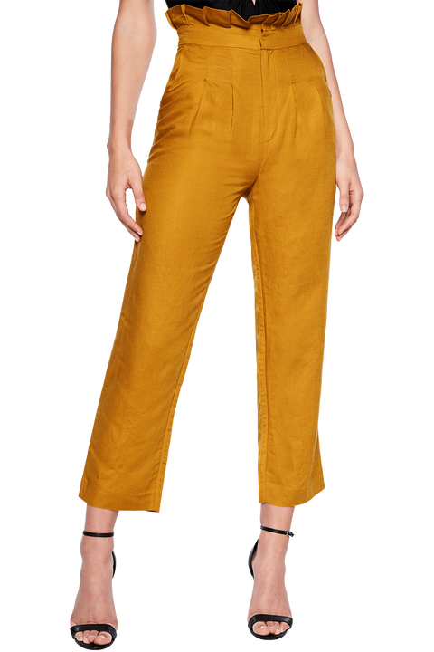 MONACO LINEN PANT in colour MIMOSA