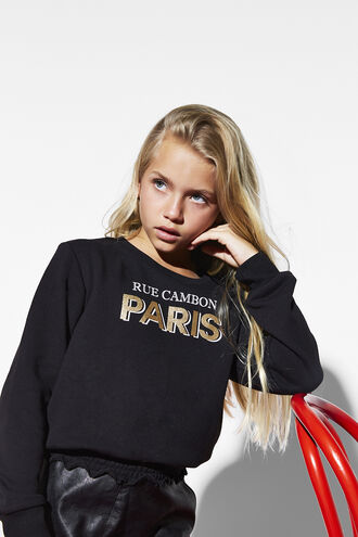 RUE CAMBON SWEAT in colour JET BLACK