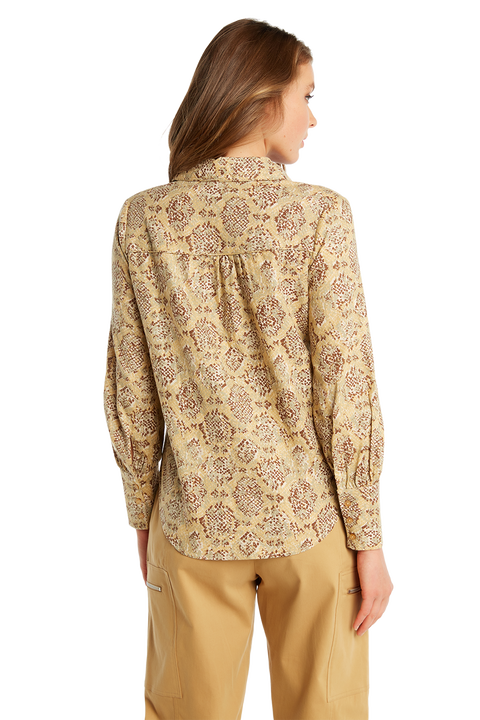 SNAKE BUTTON SHIRT in colour APPLEBLOSSOM