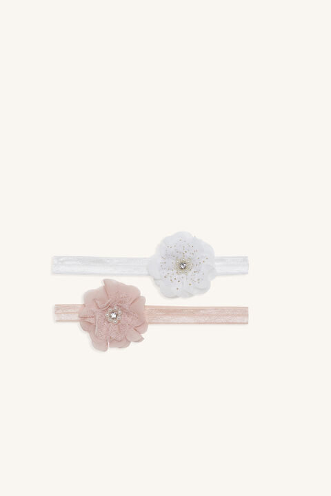 PEARL & DIAMANTE FLOWER 2 PACK in colour PINK CARNATION