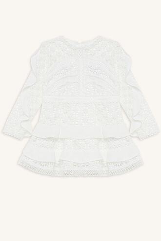 ARABELLA LACE DRESS in colour BRIGHT WHITE