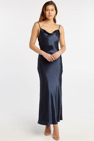 ESTELLE DRAPE DRESS in colour BLACK IRIS