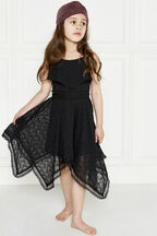 SAVANNA HANKY DRESS in colour JET BLACK