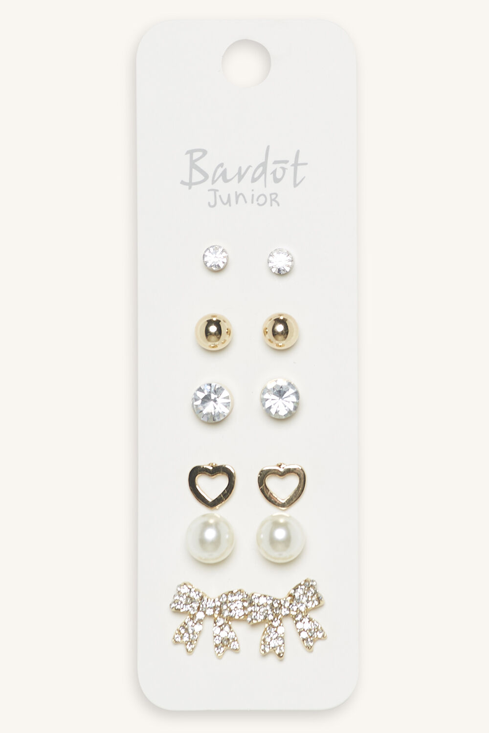 CLASSIC PRETTY EARRING STUD 6PK in colour HARVEST GOLD