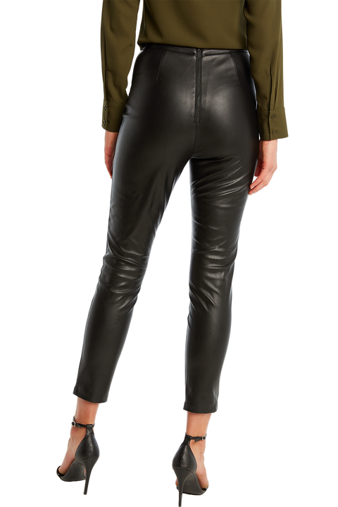 SKINNY PU PANT in colour CAVIAR
