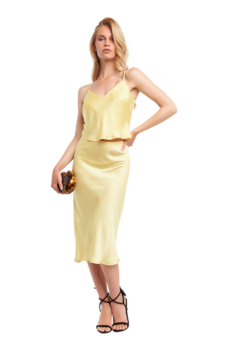 CROPPED CAMI in colour FRENCH VANILLA