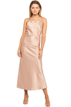ESTELLE DRAPE DRESS in colour PALE DOGWOOD