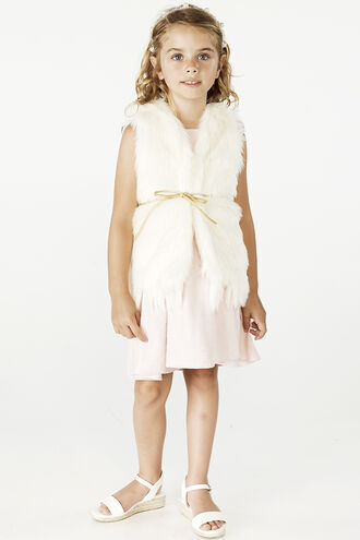 ISLA FUR GILET in colour CLOUD DANCER