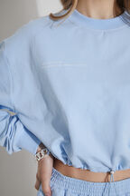 THE DRAWSTRING SWEATER in colour LITTLE BOY BLUE