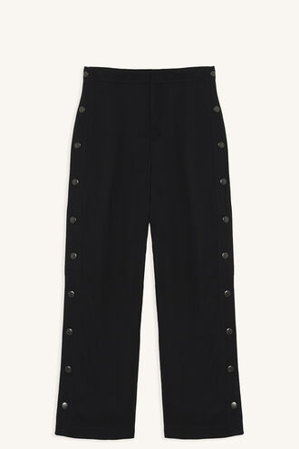 SNAP SIDE PANT in colour CAVIAR
