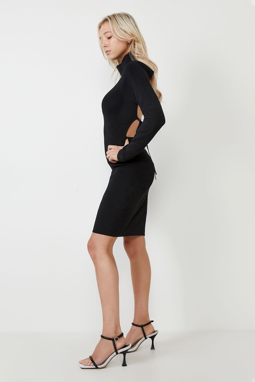 ELIN DRESS in colour CAVIAR