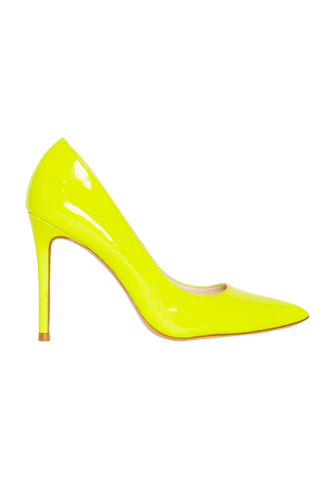 NEON PUMP in colour YELLOW CREAM