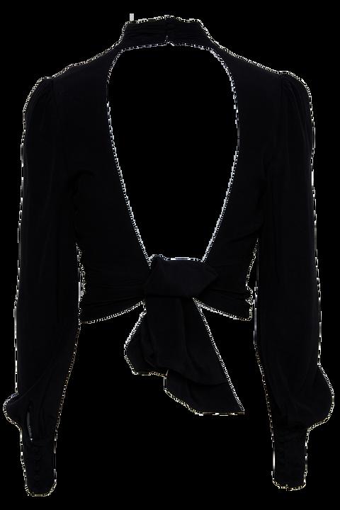 LOUISE TIE TOP in colour CAVIAR