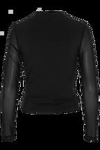 KALI MESH TOP in colour CAVIAR