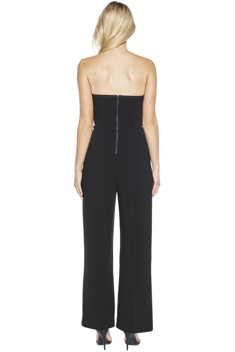 TWIN BOW JUMPSUIT in colour CAVIAR