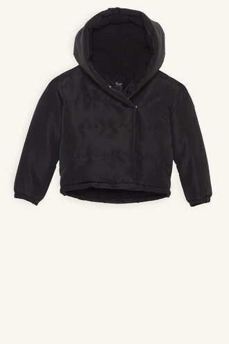 LINEAR PUFFER JACKET in colour JET BLACK