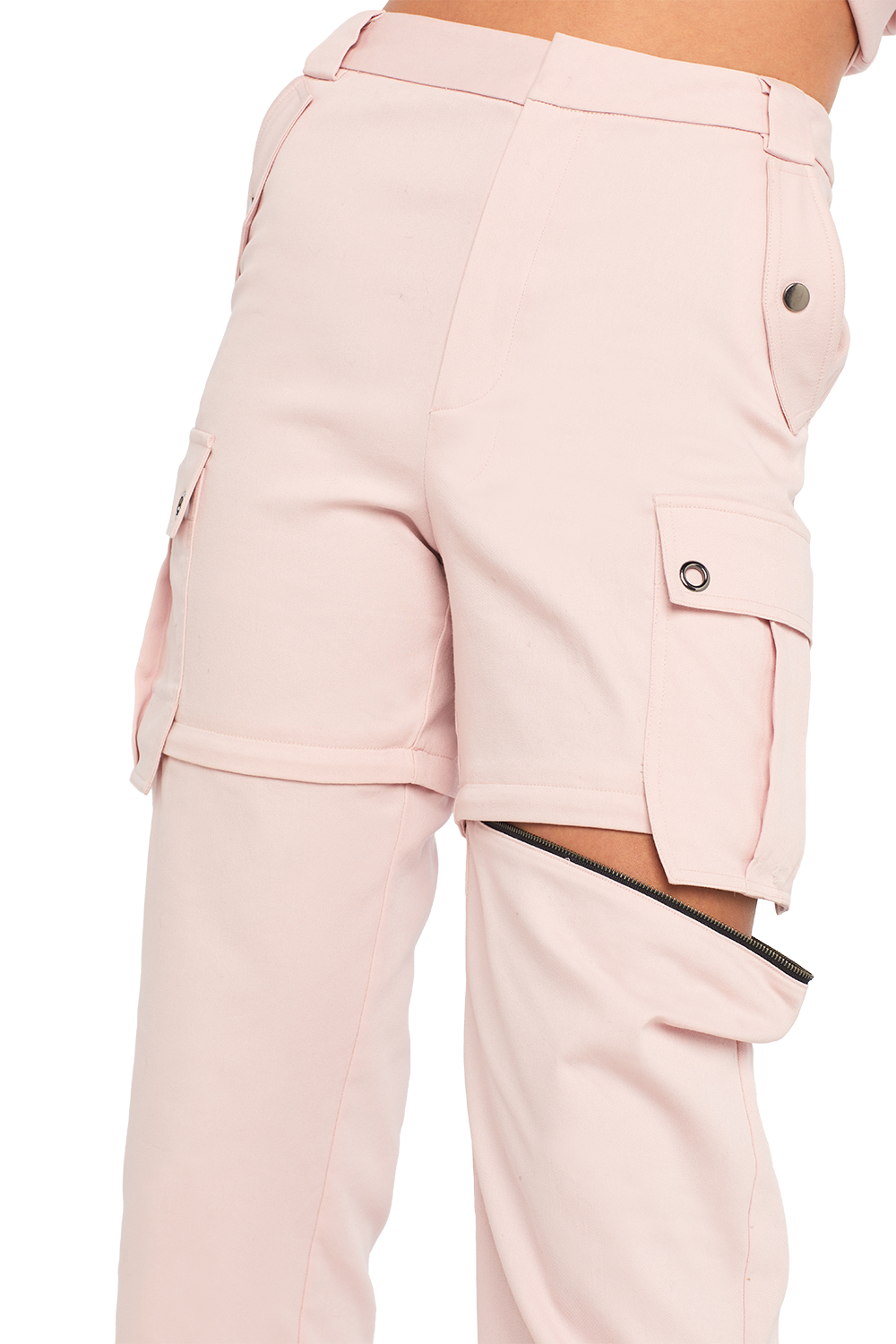 ZIP CARGO PANT/SHORT in colour PALE DOGWOOD
