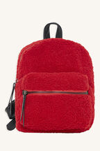 MINITURE FAUX SHERLING BAG in colour RED BUD