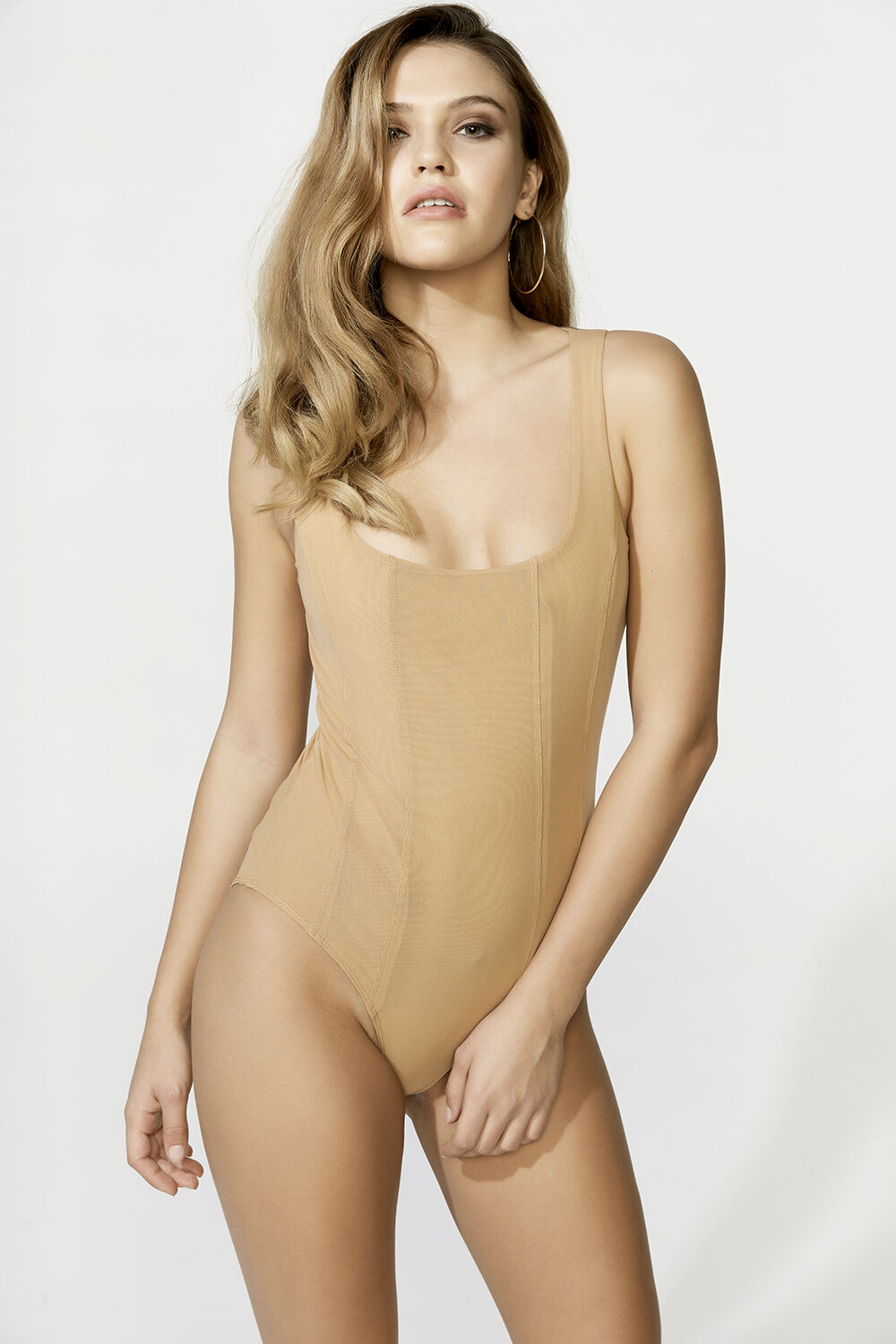 MIRA BODYSUIT in colour RUGBY TAN