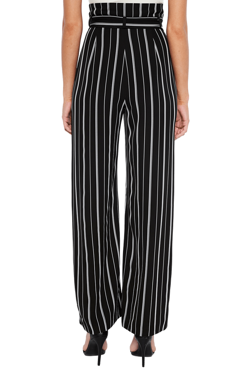 YUMI STRIPE PANT in colour CLOUD DANCER