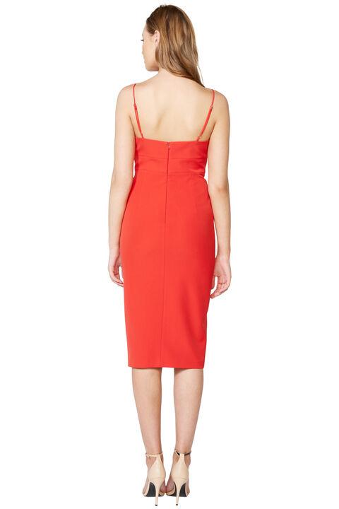AVA SLIT FRONT DRESS in colour FIESTA