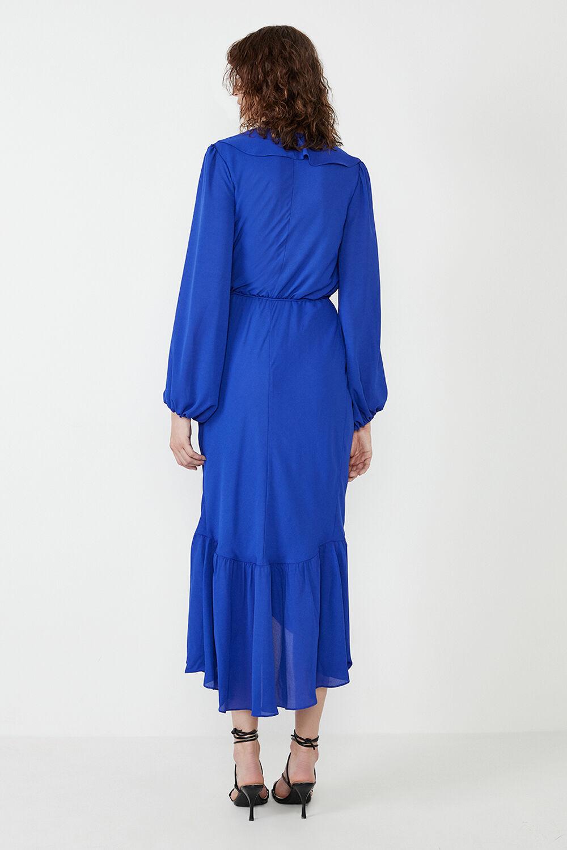 SOPHYA MIDI DRESS in colour ELECTRIC BLUE