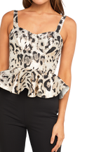 JACQUARD BUSTIER in colour MARSHMALLOW
