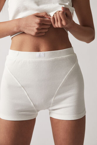RIB BOXER BRIEFS in colour BRIGHT WHITE