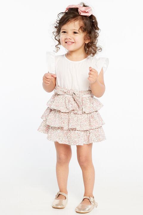 ALLI 2FER DRESS in colour BRIDAL ROSE