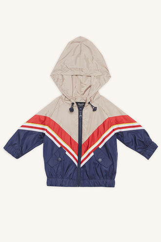 SPLICED TRACK WINDBREAKER in colour PEACOAT