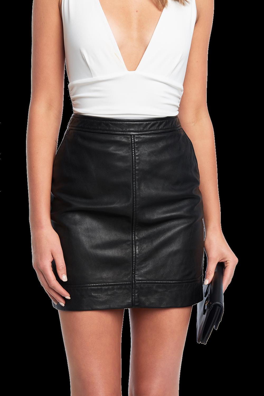 2a7c5b73a Yuma Leather Skirt   Ladies Clothing & Jackets & Coats   Bardot
