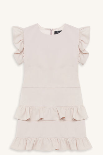 SASKIA FRILL DRESS in colour CRYSTAL PINK