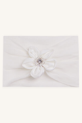 FLOWER STRECTH HEADBAND in colour WHITE ALYSSUM