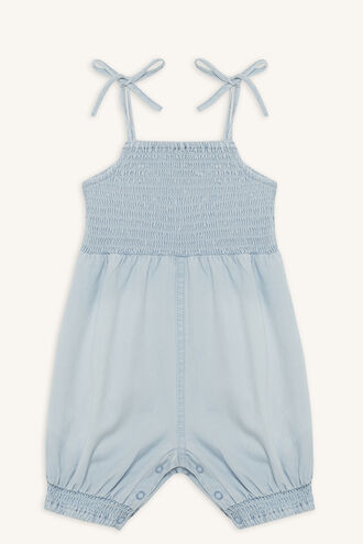 SHIRRED CHAMBRAY GROW in colour CASHMERE BLUE