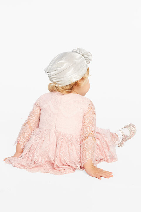 BABY GIRL GERTRUDE LACE DRESS in colour TUSCANY