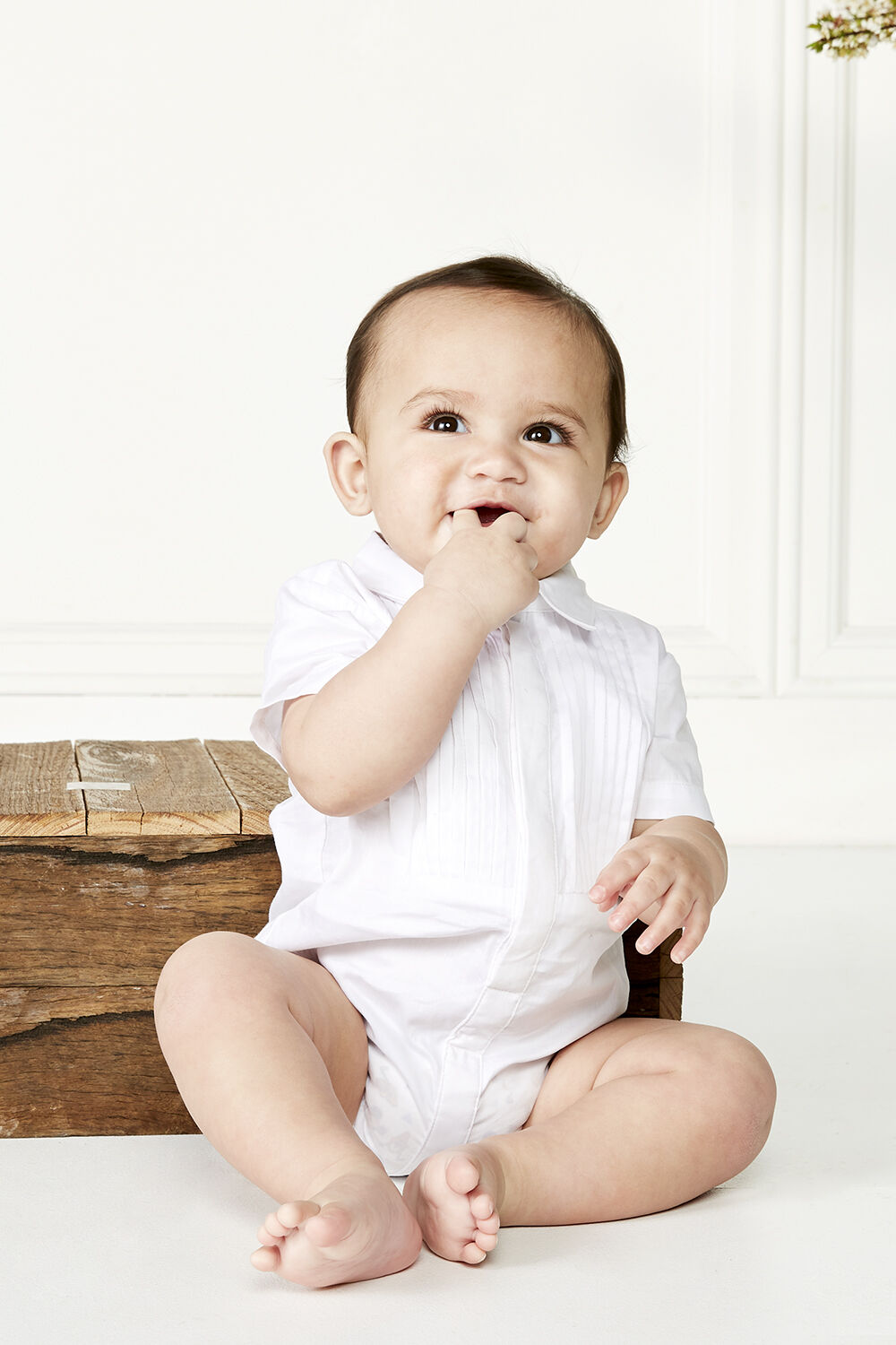 PINTUCK BIB GROW in colour BRIGHT WHITE