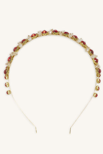 JEWELLED HEADBAND in colour CRIMSON