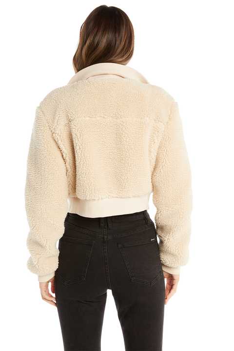 RIB SHERPA JACKET in colour ANTIQUE WHITE