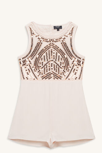 TORI BEADED PLAYSUIT in colour CRYSTAL PINK