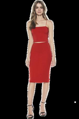 CARA CROP CAMI in colour HIGH RISK RED