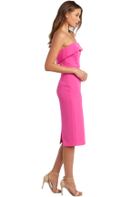 ZORIANNA MIDI DRESS in colour SHOCKING PINK