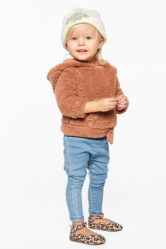 LAURREL KNIT JEAN in colour DUSTY BLUE