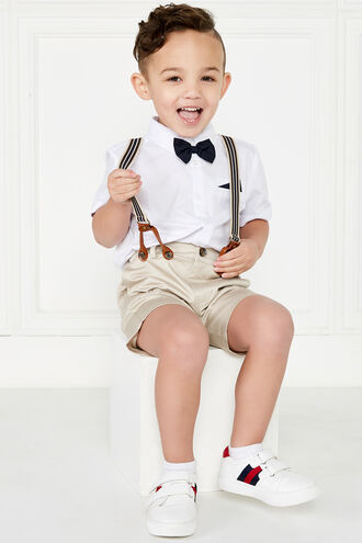 THOMAS BOWTIE SHIRT in colour BRIGHT WHITE