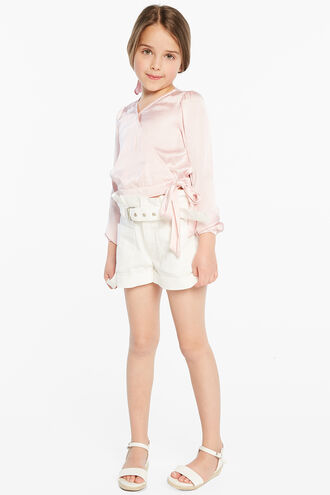 ELENA TIE BLOUSE in colour PARFAIT PINK