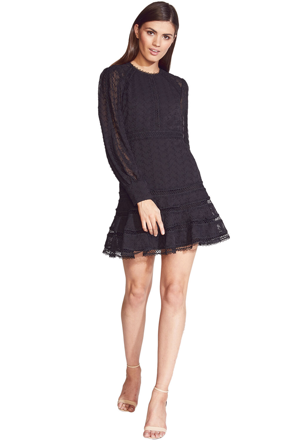 PRINNIE MINI DRESS in colour CAVIAR