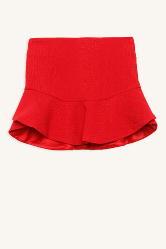 SNAKE FRILL SKIRT in colour LOLLIPOP
