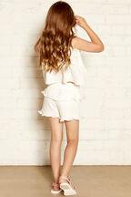 LORENA FRILL TOP in colour CLOUD DANCER